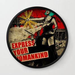 Express Your Womankind Wall Clock