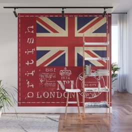Union Jack Great Britain Flag Wall Mural