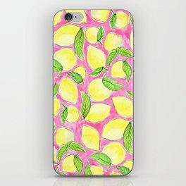 Pink Lemonade Pattern iPhone Skin