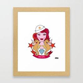 03 - TATTOO BAD GIRL Framed Art Print