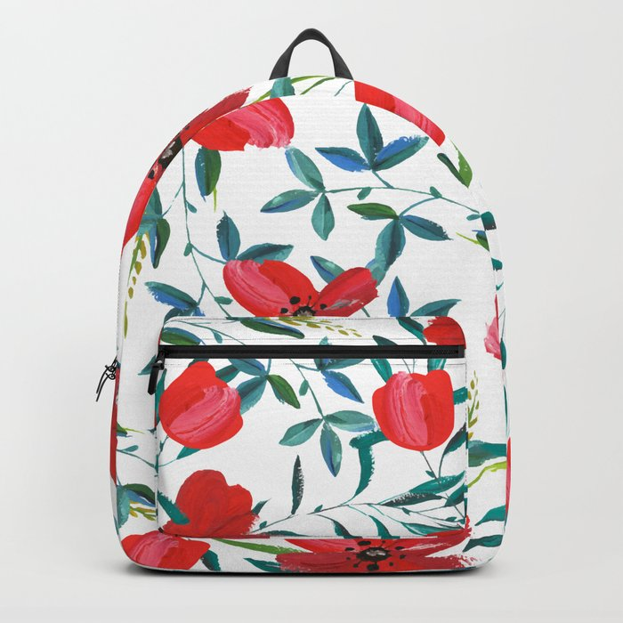 Red Blossom #society6 #decor #buyart Backpack