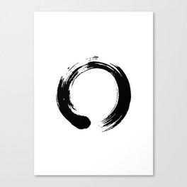 enso, enso circle, zen circle, zen enso, zen symbol, zen art, japanese circle, japanese, japanese ar Canvas Print