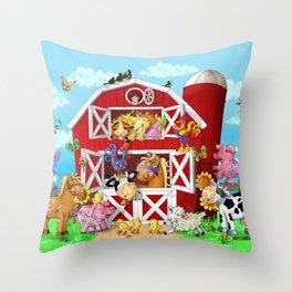 Barnyard Yahoos Throw Pillow