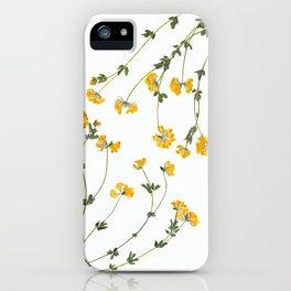 Yellow Lotus Flower Botanical Print iPhone Case