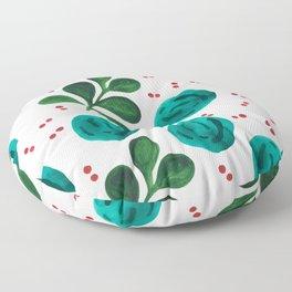 Blue Christmas planet pattern Floor Pillow