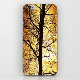 Tree Silhouette At Sunset #decor #society6 iPhone Skin