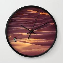 Sunrise over the Sahara desert Wall Clock