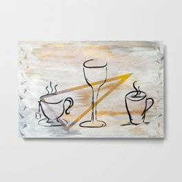 Beverage of Choice Metal Print