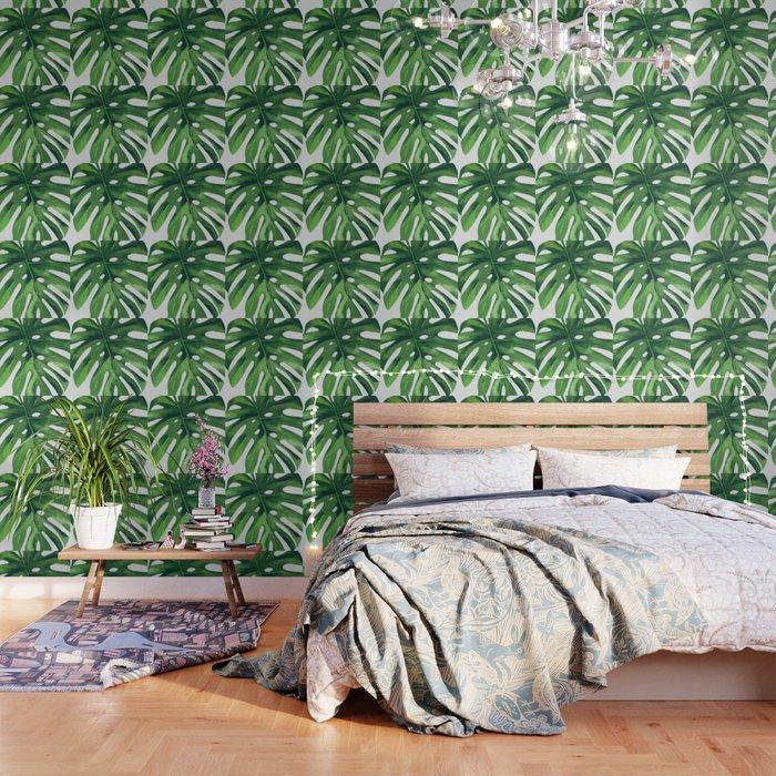 Monstera Leaf Wallpaper