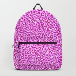Light Pink Glitter Cheetah Print Backpack