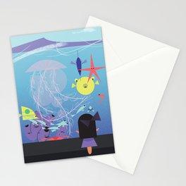 Honolulu Aquarium Poster Stationery Cards