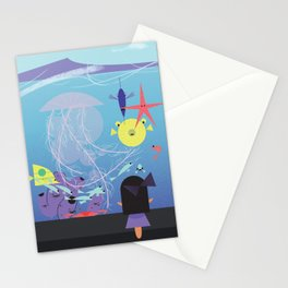Honolulu Aquarium Poster Stationery Cards