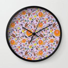 Cute Tropical Pattern Wall Clock