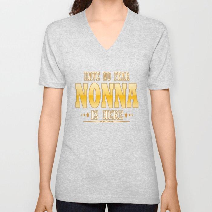 NONNA IS HERE Unisex V-Neck