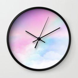 Pretty Rainbow Wall Clock