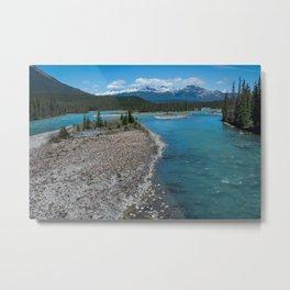 Athabasca River Photography Print Metal Print