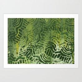Abstract green painting Art Print