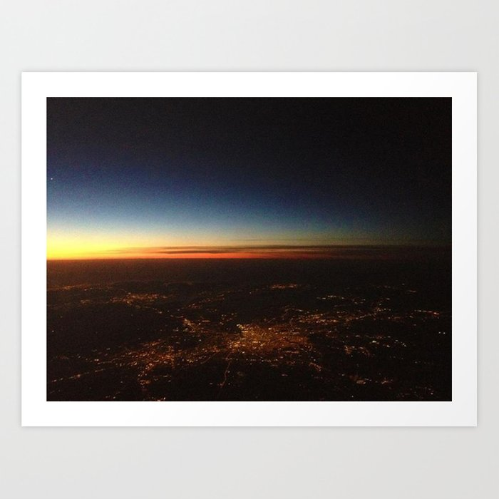 Sunset from a Plane's View Art Print