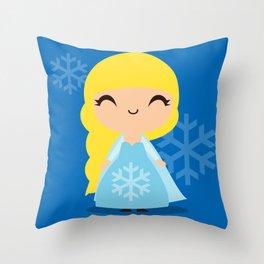 Frozen Cute Princess Elsa Throw Pillow