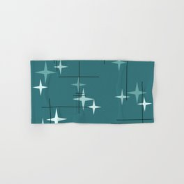 Mid Century Modern Stars (Ocean Green) Hand & Bath Towel