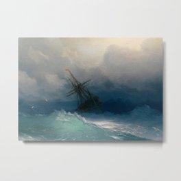 Aivazovsky Storm Metal Print