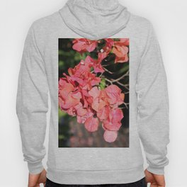 Hot Coral Floral Hoody