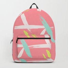 Brush stroke pattern Backpack