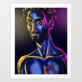 Neon Skin Art Print