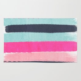 Abstract minimal painted stripes pattern basic nursery gender neutral decor gifts Rug