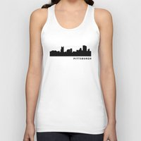 pittsburgh Tank Tops featuring Pittsburgh by Fabian Bross