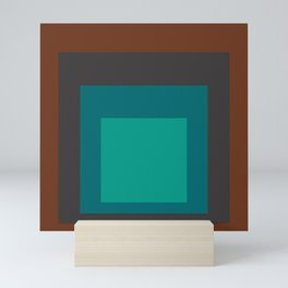 Block Colors - Browns and Teals Mini Art Print