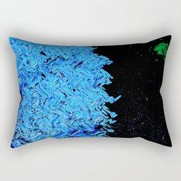 blue zig Rectangular Pillow