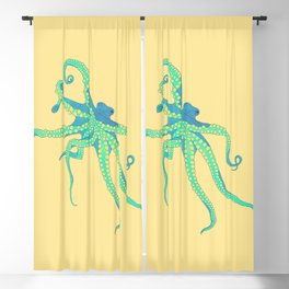 Bodacious Octopus Blackout Curtain
