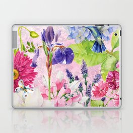 English Garden pink Laptop & iPad Skin