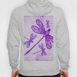 Beautiful abstract dragonflies in purple Hoody