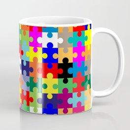 Jigsaw Pieces In Colour Coffee Mug