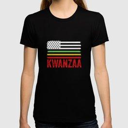 African American Flag Kwanzaa Black Heritage Holiday T-shirt