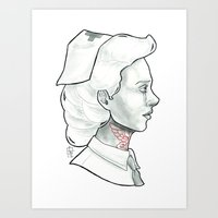 nurse Art Prints featuring Nurse by Luc Nakashoji