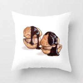 Desserts: Profiteroles Throw Pillow