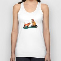 musa Tank Tops featuring pet the dog by musa