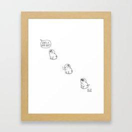 Good boy - Mochi the pug Framed Art Print