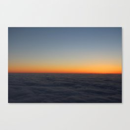 Mid Flight | Above the Clouds Canvas Print