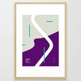 Racetrack Series : LAGUNA SECA Framed Art Print