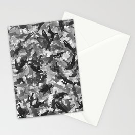 Silly walks camouflage Stationery Cards