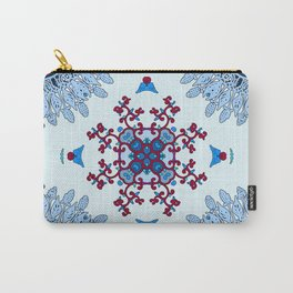 blue and red pattern Carry-All Pouch