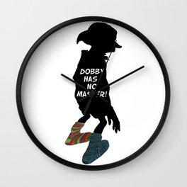 Dobby Has No Master Wall Clock
