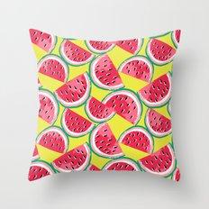 Watermelon Watercolor Throw Pillow