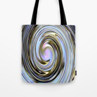 the wire Tote Bags featuring Wire spiral by Hannah