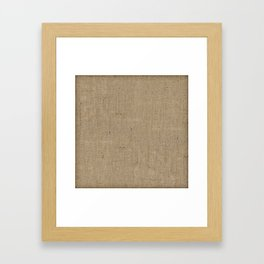 Plain Burlap Texture Print Framed Art Print