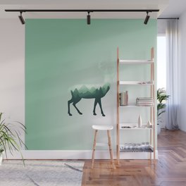 Deer Stag Elk Roe Fawn Moose Double Exposure Surreal Wildlife Animal Wall Mural
